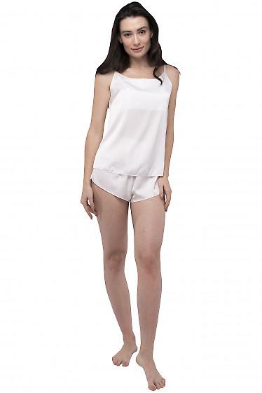 Пижама женская молочная. Деловая женская одежда фото