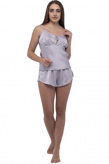 Пижама женская серая. Деловая женская одежда фото