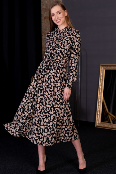 Праздничное платье в цветочный принт фото