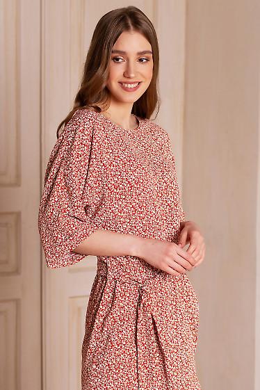 Купить платье на запах в цветочек. Деловая женская одежда фото