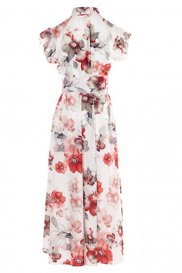 Летнее платье с несимметричным низом. Женская одежда фото