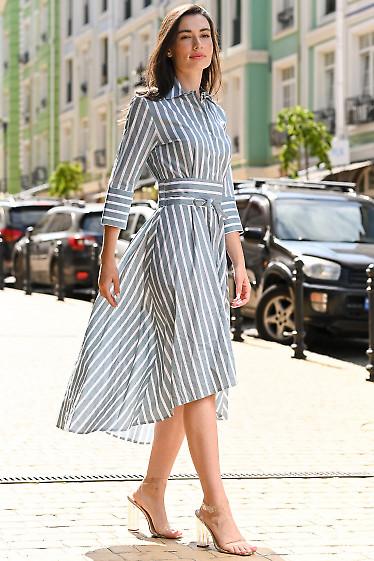 Женское платье в полоску фото