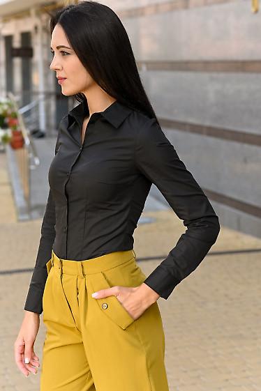 Черная женская рубашка фото