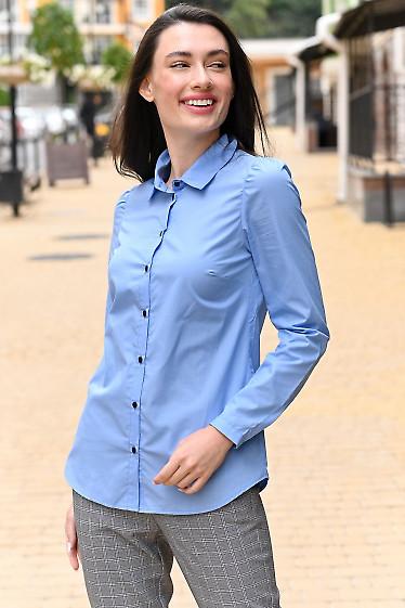 Рубашка женская голубая фото