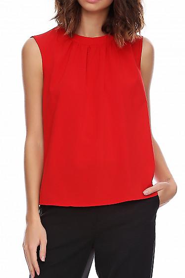 Топ ярко-красный. Деловая женская одежда