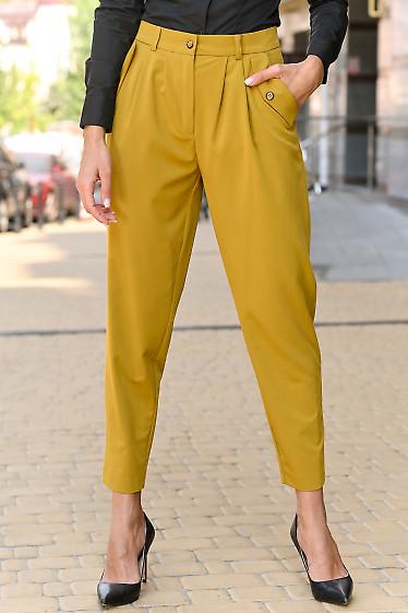 Трендовые женские брюки цвета горчица. Деловая женская одежда