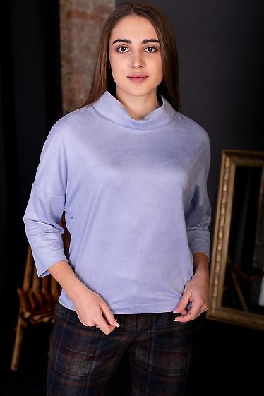 Туника из сиреневого замша. Деловая женская одежда фото