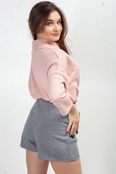 Купить тунику розовую с манжетами. Деловая женская одежда фото
