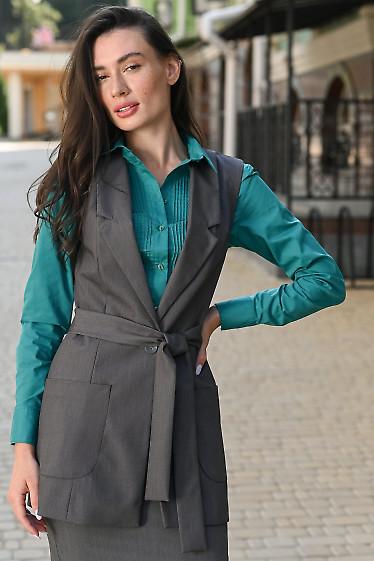 Женский серый жилет фото