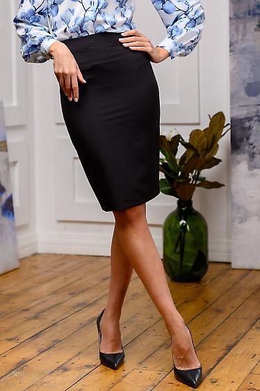 Юбка черная с кармашками .Деловая женская одежда