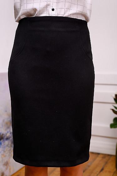 Юбка чёрная шерстяная теплая. Деловая женская одежда