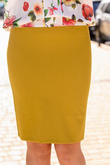 Юбка горчичного цвета. Деловая женская одежда