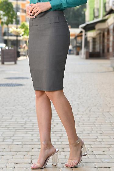 Серая женская юбка фото