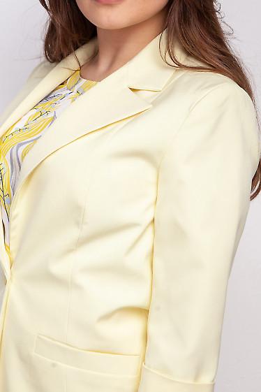 Купить желтый жакет. Деловая женская одежда фото