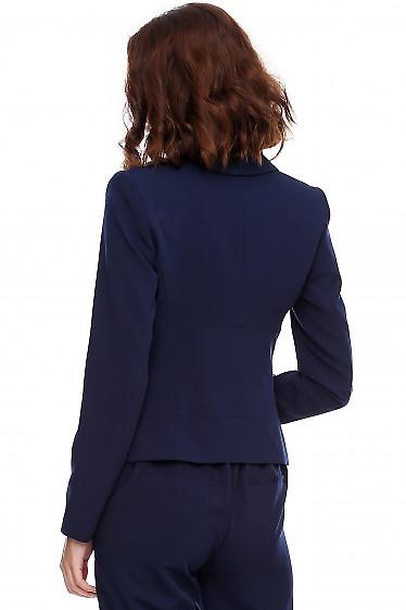 Женский жакет синего цвета фото