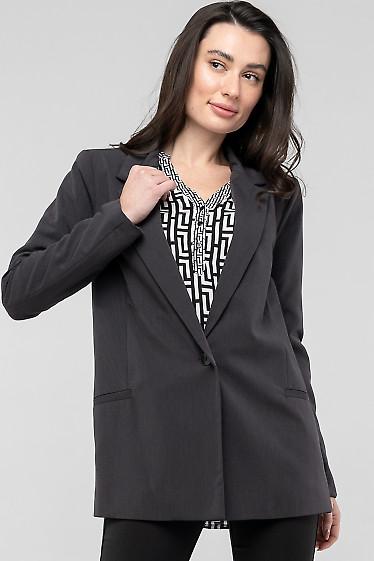 Серый жакет из костюмной ткани