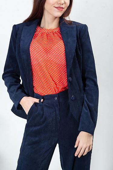 Купить жакет синий вельветовый. Деловая женская одежда фото