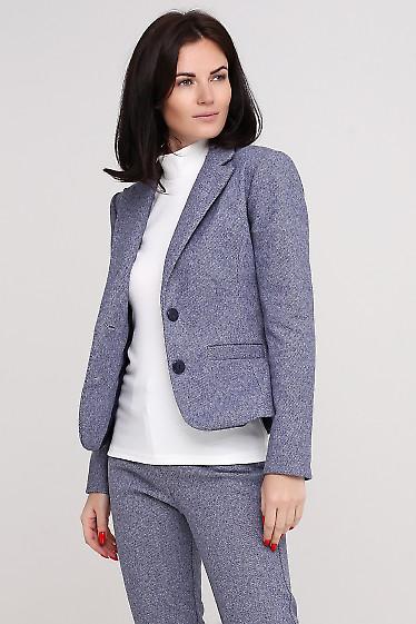 Жакет теплый в мелкую полосочку Деловая женская одежда фото
