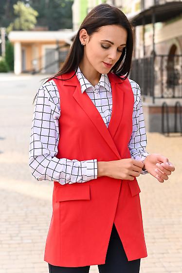 Женский красный жилет фото