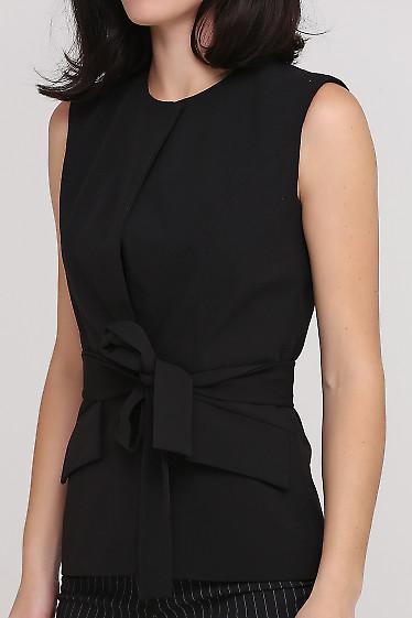 Жилет черный Деловая женская одежда фото