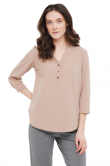 Блузка нюдовая Деловая Женская Одежда фото