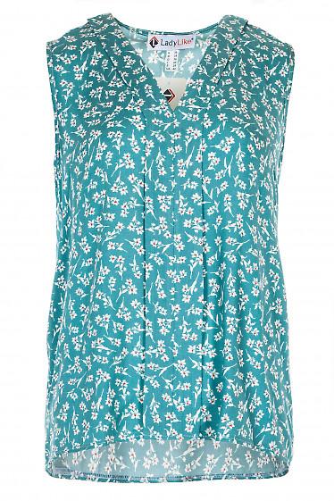 Блузка мятная с планкой. Деловая женская одежда фото