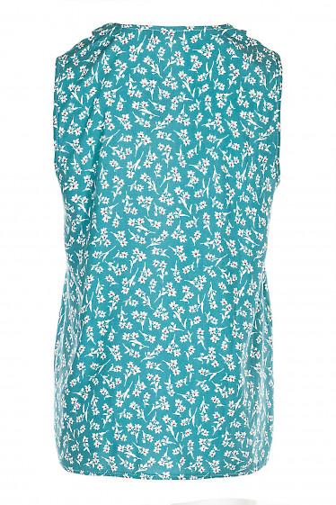 Купить мятную блузку в цветочек. Деловая женская одежда фото