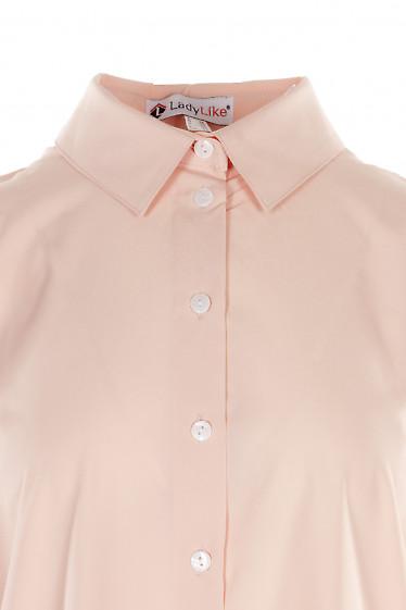 Купити персикову блузку оверсайз. Діловий жіночий одяг.