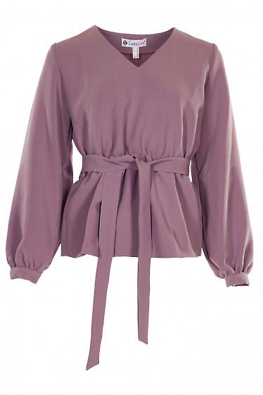 Блузка розовая из костюмной ткани. Деловая женская одежда фото