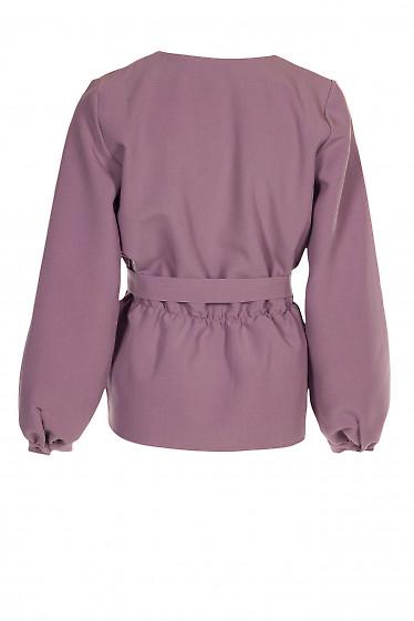 Купить блузку розовую из костюмной ткани. Деловая женская одежда фото