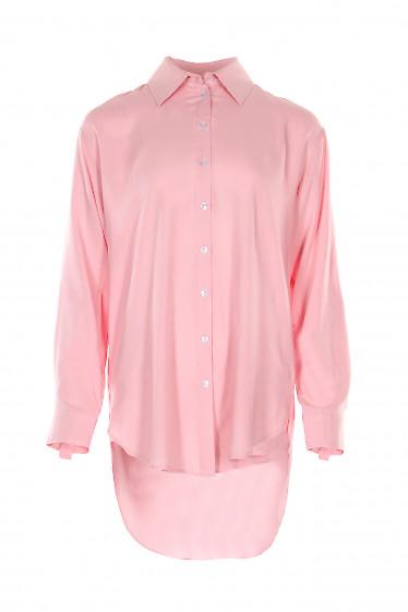 Купить розовую блузку оверсайз. Деловая женская одежда фото