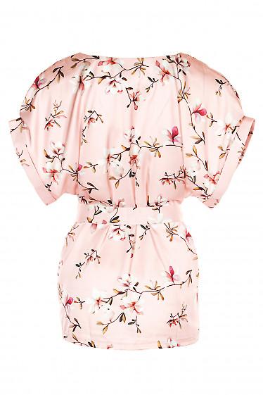 Купить шелковую розовую блузку. Деловая женская одежда фото