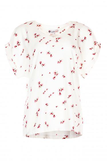 Купить нарядную блузку в цветок. Деловая женская одежда фото