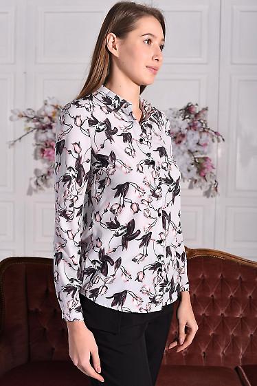 Блуза из софта в тюльпаны