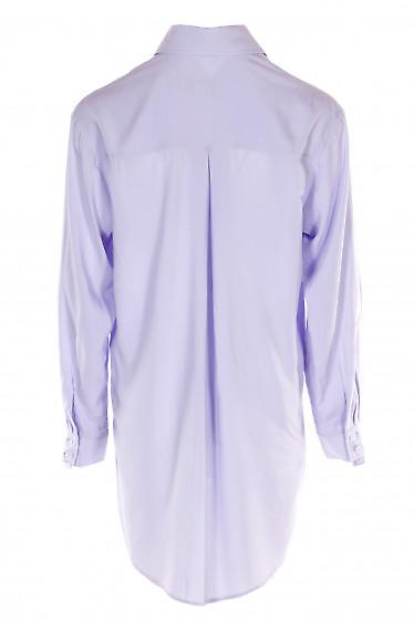 Блузка сиреневая удлиненная оверсайз. Деловая женская одежда фото