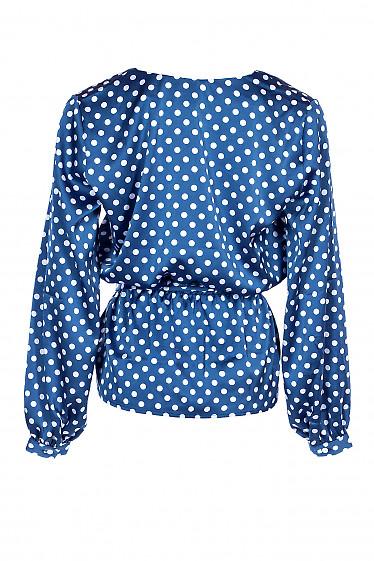 Купить шелковую блузку в горох. Деловая женская одежда фото