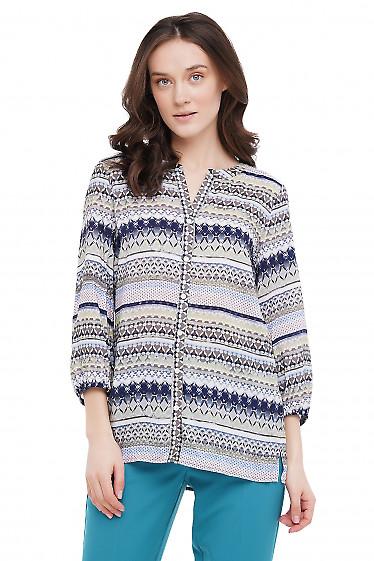 Блузка оверсайз Деловая Женская Одежда фото