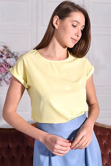 Блузка жовта без рукавів. Деловая женская одежда