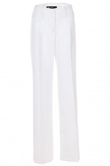 Брюки клеш от бедра белые Деловая Женская Одежда фото