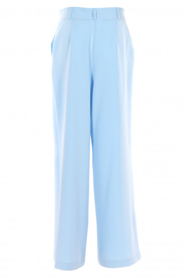 Купить женские брюки палаццо голубые. Деловая женская одежда фото