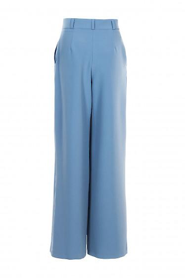 Купить брюки серо-голубые палаццо. Деловая женская одежда фото