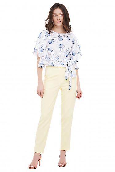 Летние брюки Деловая Женская Одежда фото