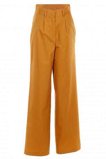 Брюки желтые палаццо. Деловая женская одежда