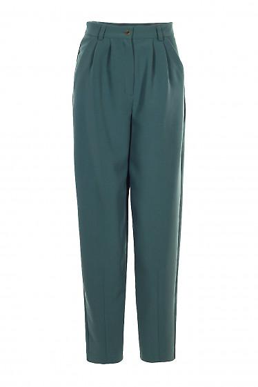 Штани жіночі зелені завужені. Діловий жіночий одяг.