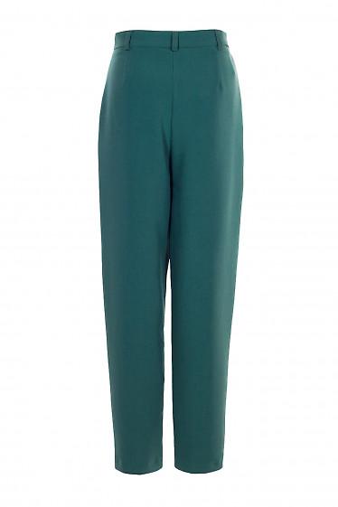 Штани високі жіночі зелені завужені. Діловий жіночий одяг.