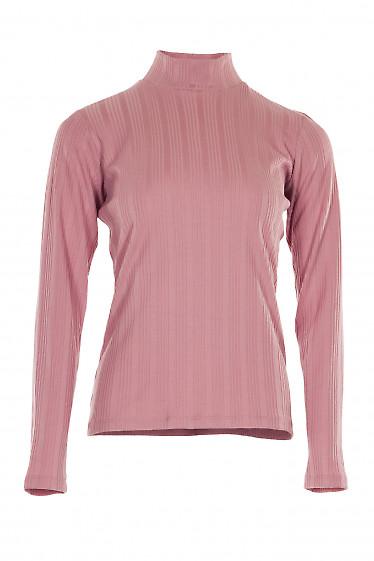 Гольф розовый полосатый. Деловая женская одежда фото