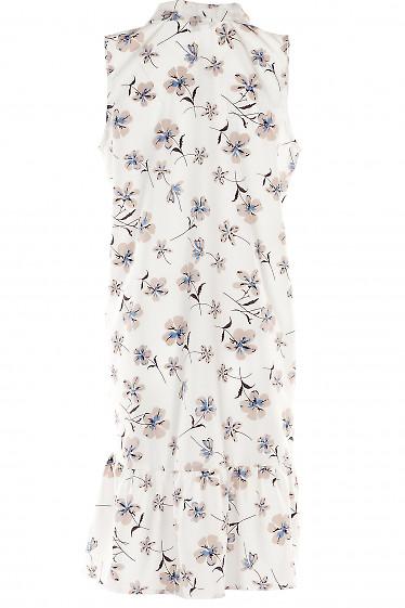 Белое платье в цветы
