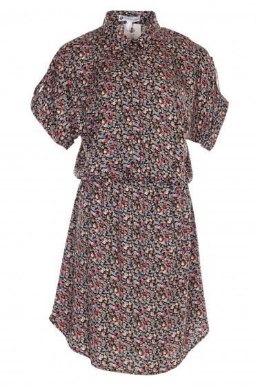 Платье черное с заокругленным низом. Женская одежда фото