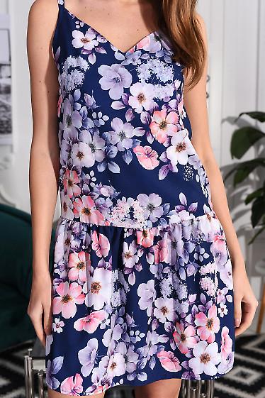 Сарафан в цветы с воланом