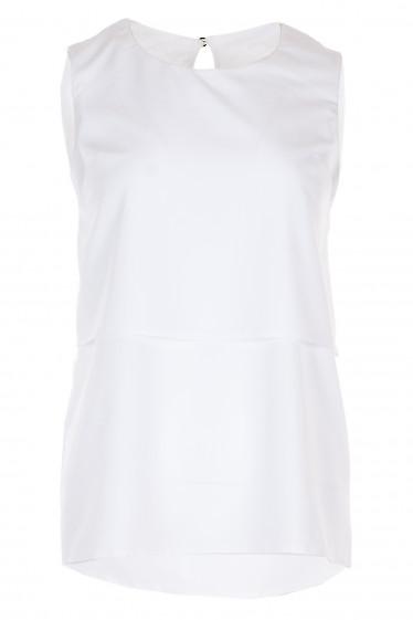 Топ белый из вискозы Деловая женская одежда фото